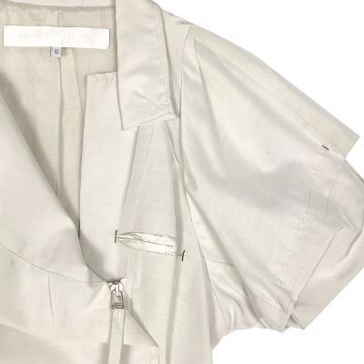 side zip up shirring dress
